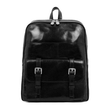 The Divine Comedy // Leather Backpack // Black