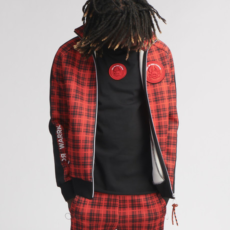 Ax Checker Track Jacket // Red Check (S)