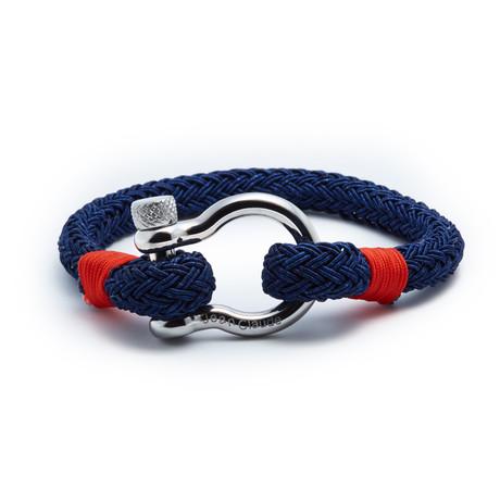 "Jean Claude Jewelry // Nautical ""D"" Clamp Closure Bracelet (Blue)"