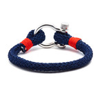"Jean Claude Jewelry // Nautical ""D"" Clamp Closure Bracelet (Beige)"