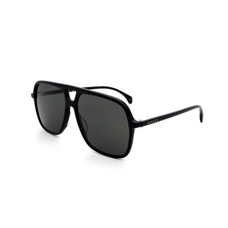 Men's GG0545S-001 Sunglasses // Black + Gray