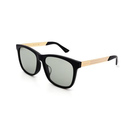 Men's GG0695SA-004 Sunglasses // Black + Gold