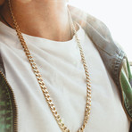 """Cuban Link Necklace // 8mm // Gold Plated (20""""L)"""