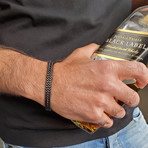 "Double Franco Bracelet // 8mm // Black (7.5""L)"