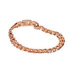 Cuban Link Bracelet // 8mm // Rose Gold Plated