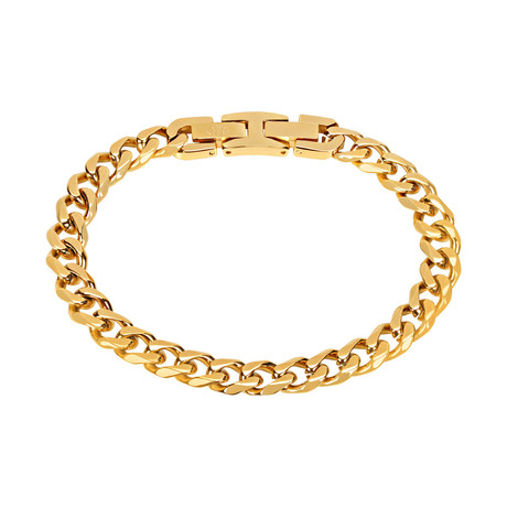 Cuban Link Bracelet // 8mm // Gold Plated