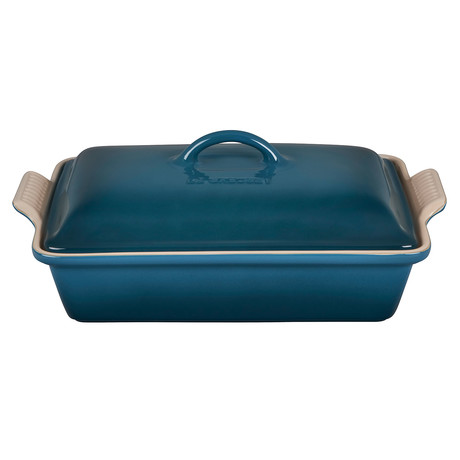 Heritage Covered Rectangular Casserole Dish // 4 qt. (Deep Teal)