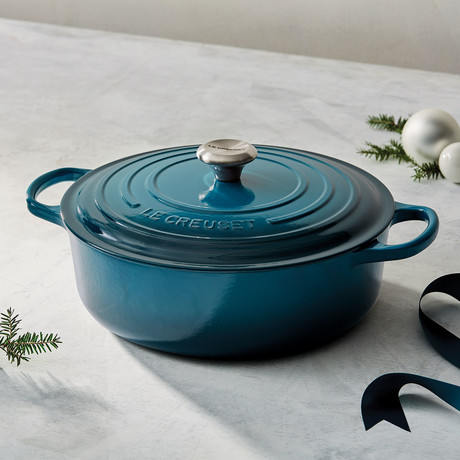 Round Wide Dutch Oven // 6.75 qt. (Deep Teal)