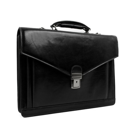 The Magus // Leather Briefcase // Black