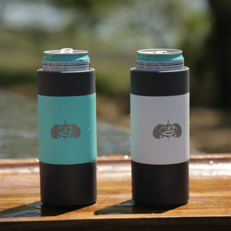 Non-Tipping Slim Can Cooler // 12 Oz (Teal)