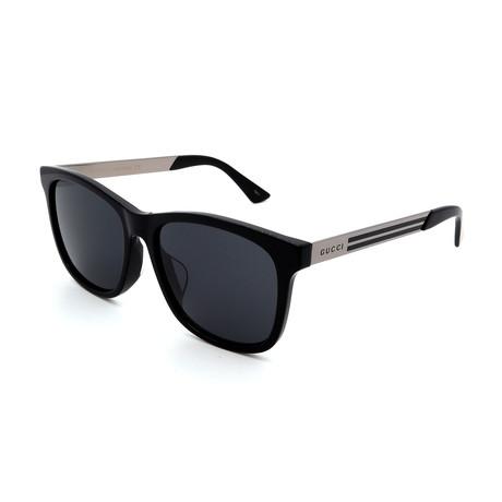 Men's GG0695SA-001 Sunglasses // Black + Silver + Gray