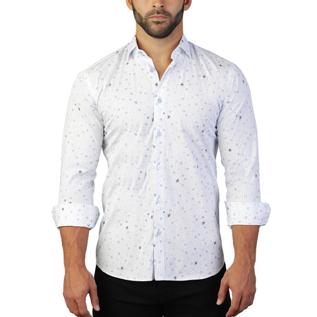 Fibonacci Bea Dress Shirt // Multicolor (S)