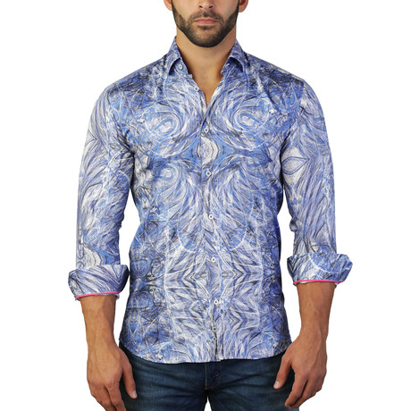 Fibonacci Dress Shirt // Blue (S)