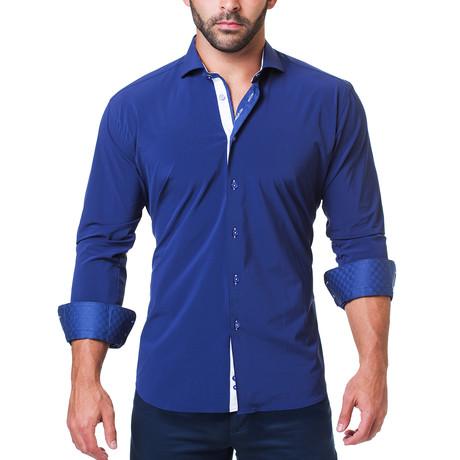 Wall Street Performance Dress Shirt // Blue (S)