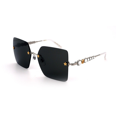 Unisex GG0644S-001 Sunglasses // Black + Silver