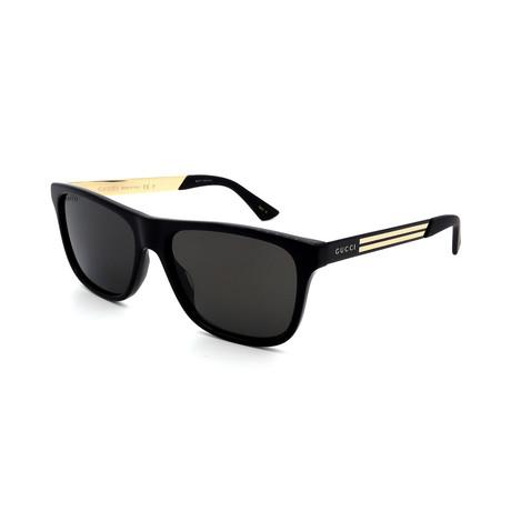 Men's GG0687S-002 Square Sunglasses // Black + Gold