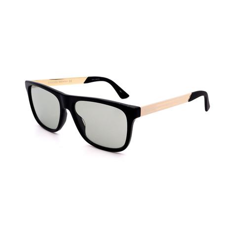Men's GG0687S-005 Sunglasses // Black + Gold