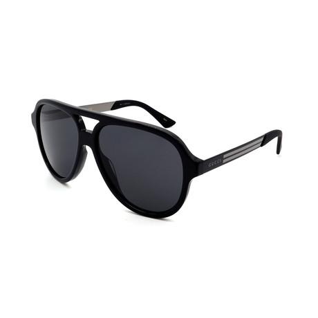 Men's GG0688S-001 Sunglasses // Black + Gray
