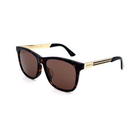 Men's GG0695SA-002 Sunglasses // Havana Brown + Gold
