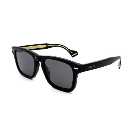 Men's GG0735S-002 Polarized Sunglasses // Black + Gray