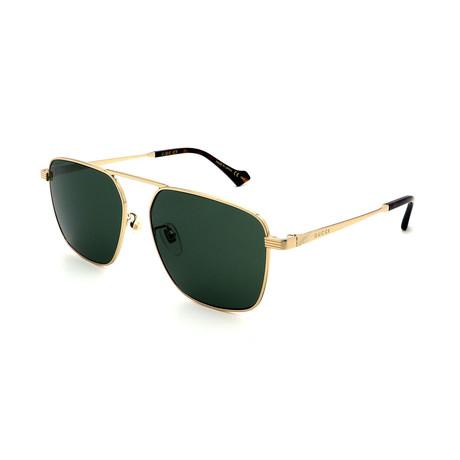 Men's GG0743S-004 Sunglasses // Gold + Green
