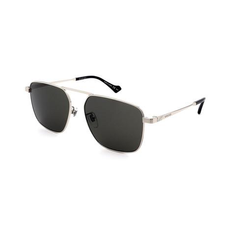 Men's GG0743S-005 Sunglasses // Silver + Gray