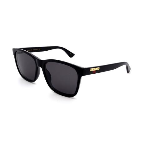 Men's GG0746S-001 Sunglasses // Black + Gray