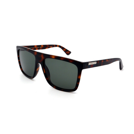 Men's GG0748S-003 Sunglasses // Havana + Green