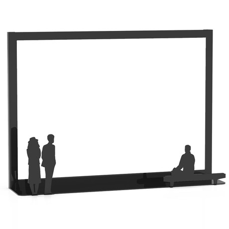 Work of Art Photo Frame // Couple + Bench