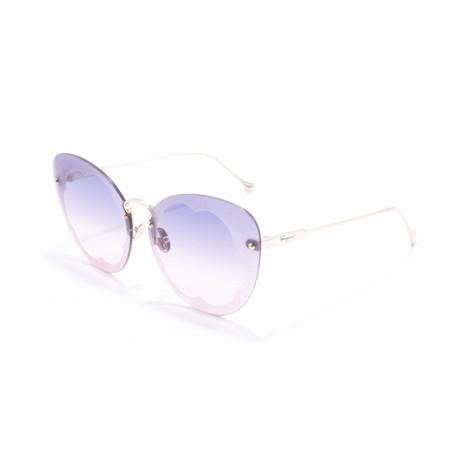 Women's SF178S Sunglasses // Shiny Rose Gold + Purple