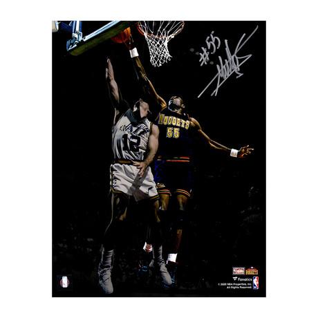 "Dikembe Mutombo // Signed Denver Nuggets Action Spotlight Photo // 11"" x 14"""