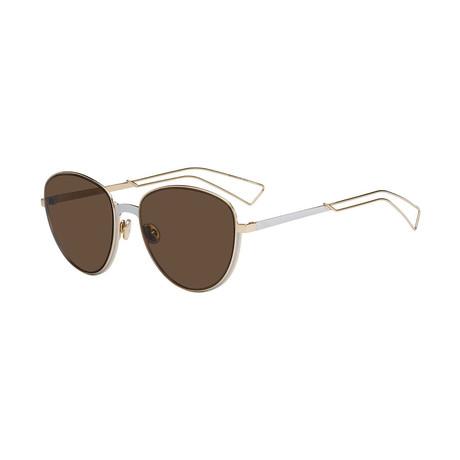 Women's Ultra Dior Sunglasses // Gold + Brown