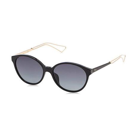 Women's Confident Sunglasses // Black + Gold + Gray Gradient