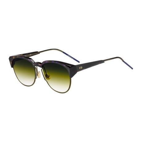 Women's Spectral Sunglasses // Purple Havana + Yellow Green Gradient