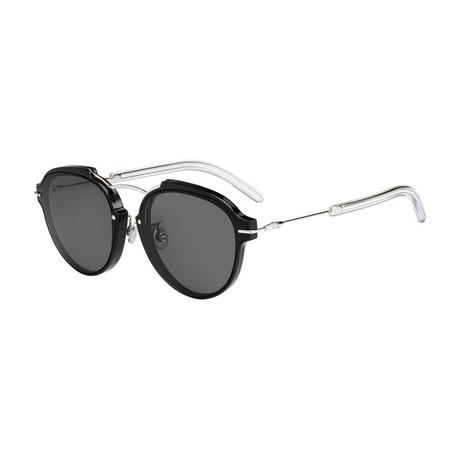 Unisex Clat Sunglasses // Black + Silver + Gray