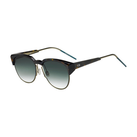 Women's Spectral Sunglasses // Havana + Green Gradient