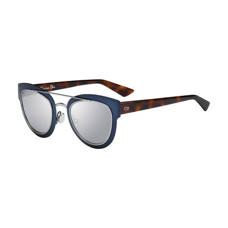 Women's Chromic Sunglasses // Blue + Havana + Silver Mirror