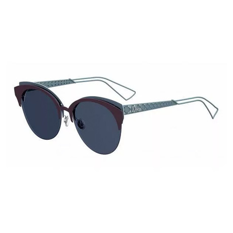 Women's Diorama Club Sunglasses // Matte Dark Violet + Petrol Blue