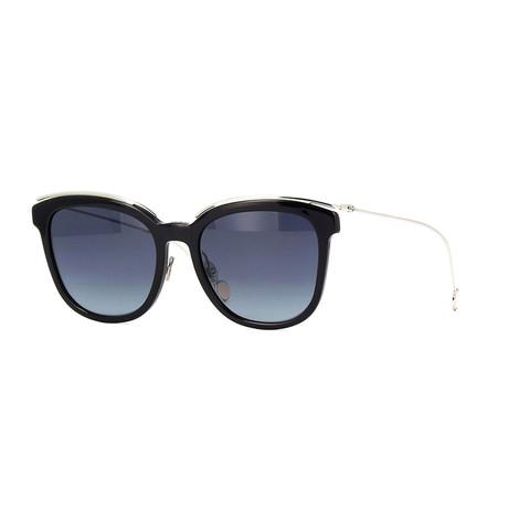 Women's Blossom Sunglasses // Black + Silver + Gray Gradient
