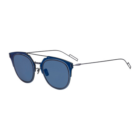 Dior // Unisex Composite Sunglasses // Blue + Blue Mirror