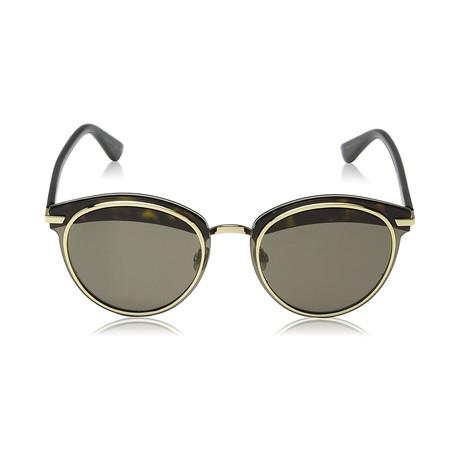 Women's Offset Sunglasses // Havana + Black + Gold