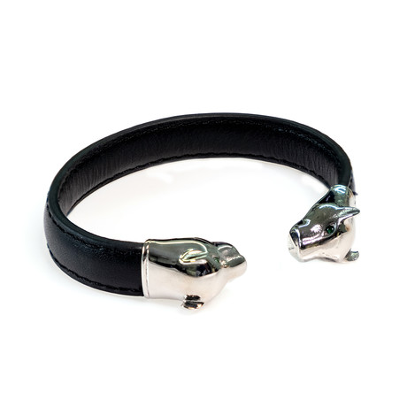 Dell Arte // Panther Bangle // Black + Silver