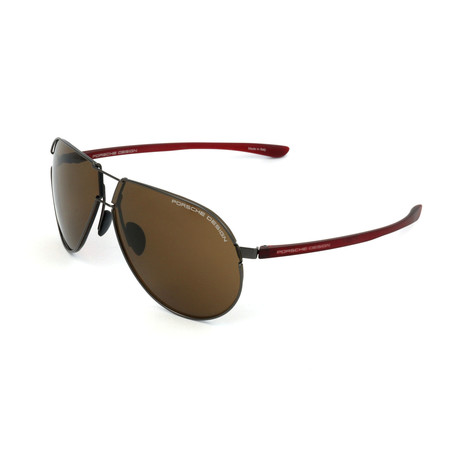 Men's P8617 Sunglasses // Dark Gunmetal
