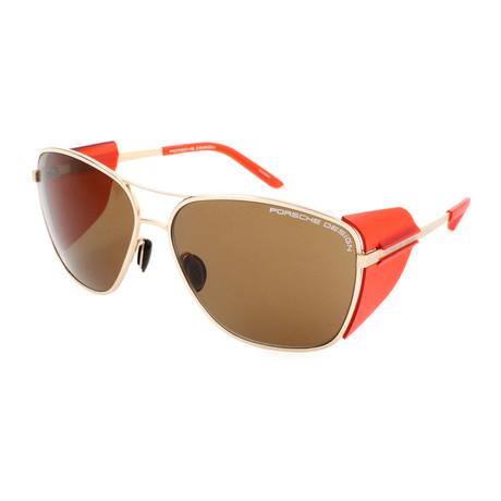 Women's P8600 Sunglasses // Gold