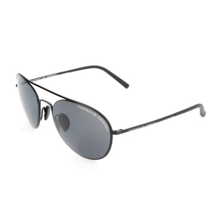 Women's P8606 Sunglasses // Black + Gray