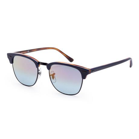 Men's Fashion Sunglasses // Blue + Red Havana