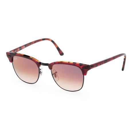 Men's Fashion Sunglasses // Transparent Red + Havana