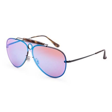 Men's Fashion Sunglasses // Black + Blue + Havana