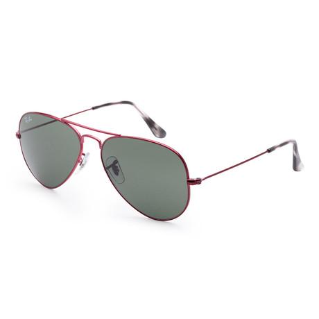 Men's Fashion Sunglasses // Red + Green