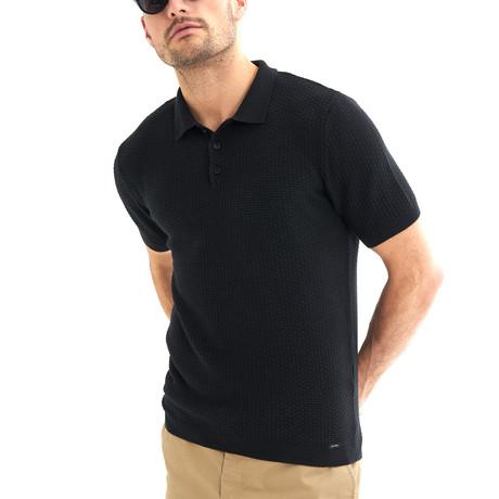 Zena Short-Sleeve Polo // Black (Small)